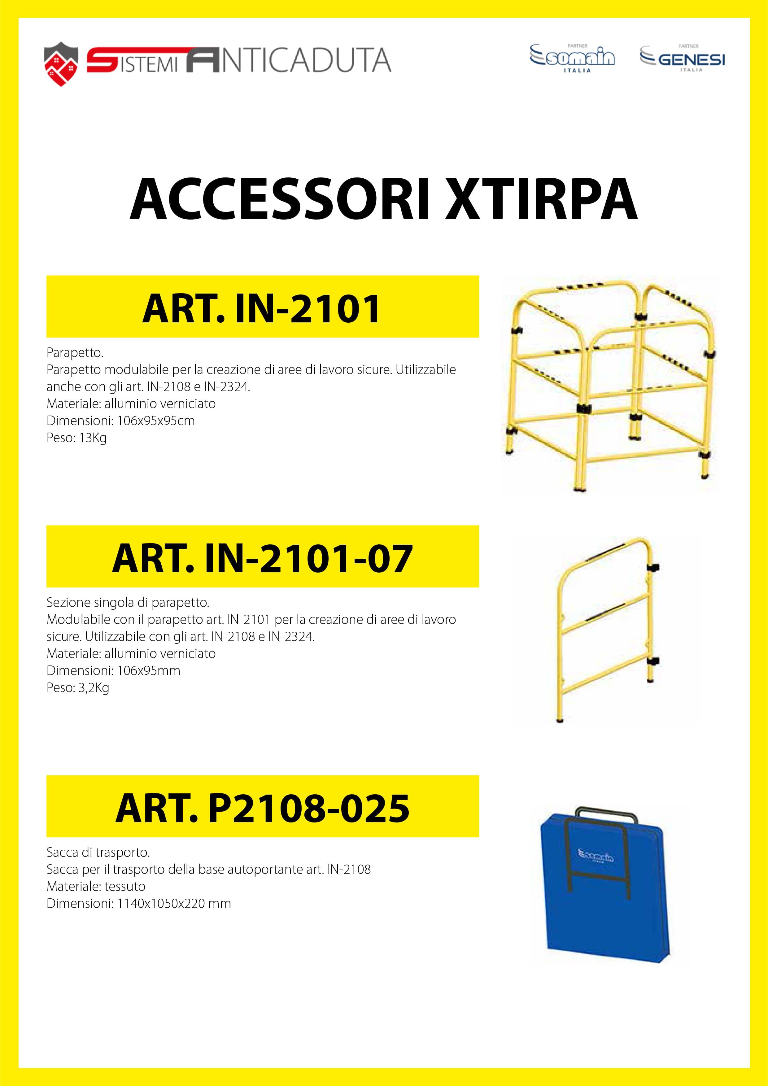 Accessori XTIRPA